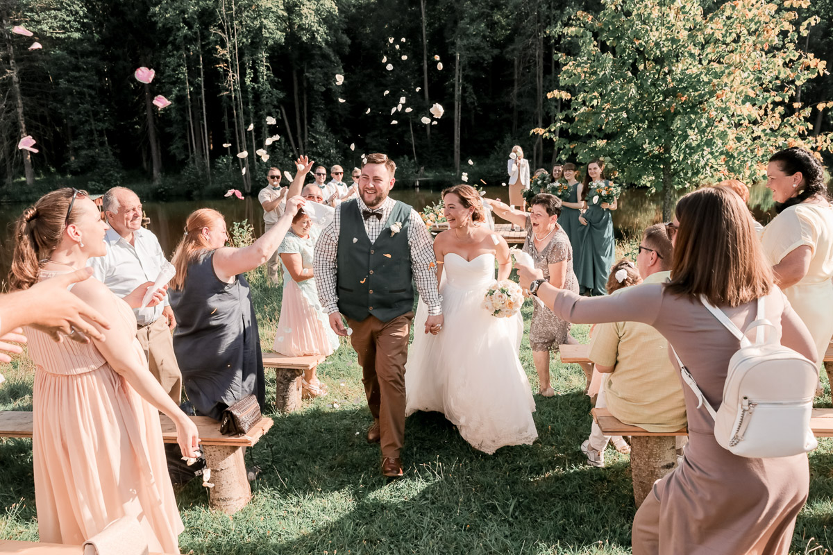 Wedding in nature in Russia